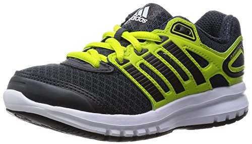 Adidas Duramo 6, Running Entrainement Mixte Enfant Gris (Dark Grey/Core Black/Semi Solar Yellow)