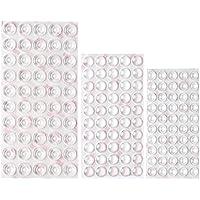 Shintop 150 Stück Möbel Stoßstangen, Transparent Selbstklebend Puffer Pads-Dämpfung für Türen Schränke Schubladen (3 Größen)