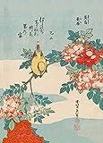 World of Art Hokusai Rosen und Vogel. Japan 18-19.