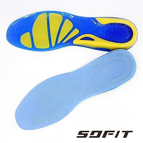 SOFIT Semelles en silicone orthopédique, pour la marche , le sport. Semelle en gel, protégé contre les chocs. Confort absolu pour marcher,
