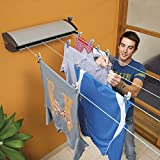 Hills Extenda 4 Retractable Washing Line - 26m Drying Space (4 Lines)