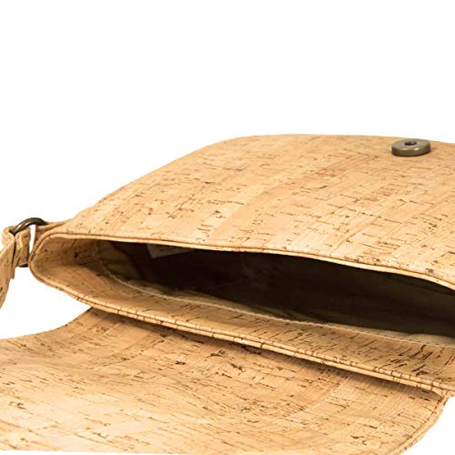 CorkLane Damen Saddle bag Korkleder vegan Handtasche Damen Tasche Kork natur - 4