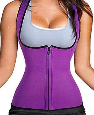 Zipper Closure Neoprene Women Fat Burner Hot Sauna Shaper Gridle Waist Trainer Vest by Chumian