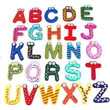 """Beyondfashion - Letras magnéticas de la A a la Z para nevera (26 letras, no incluye la letra """"ñ""""), multicolor"""