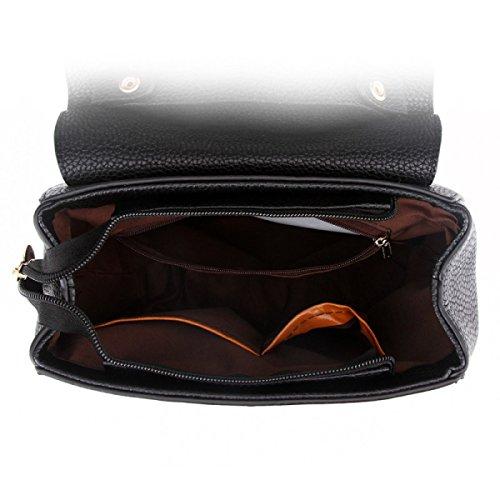Damen Handtasche Umhängetasche Diagonal Paket PU Kette Tasche Reißverschluss Tasche Blue