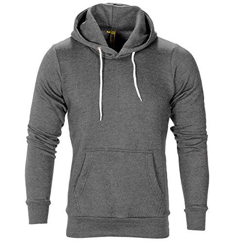 Raiken Apparel Flex Fleece Pullover Hoody-Charcoal-S