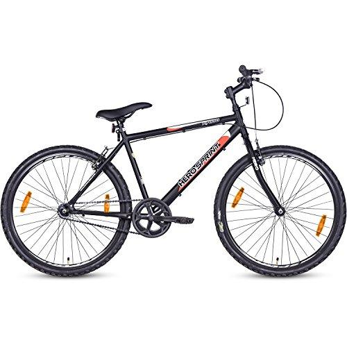 Hero Kyoto 26T Single Speed Mountain Bike  Black, Ideal For : 12+ Years