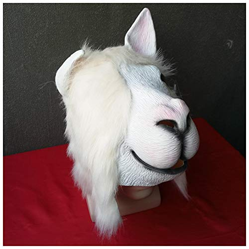 Maske YN Luxus Neuheit Alpaka Hood Cos Show Gesang Requisiten groß genug, um Mikrofon zu setzen