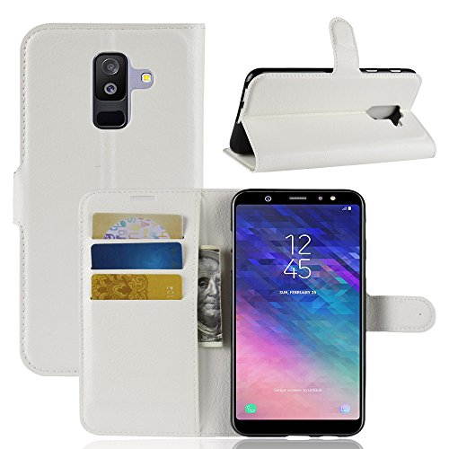 Funda   Capirotazo Billetera Samsung Galaxy J8 Plus  Blanco
