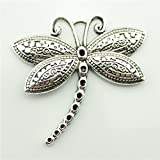 5pcs 60×58mm Dragonfly Charms Antique Silver Tone Dragonfly Pendant B11045