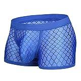 Celucke Unterwäsche Herren Transparent, Männer Niedrige Taille Mesh Boxer Beule Comfy Shorts Unterhose Unterwäsche