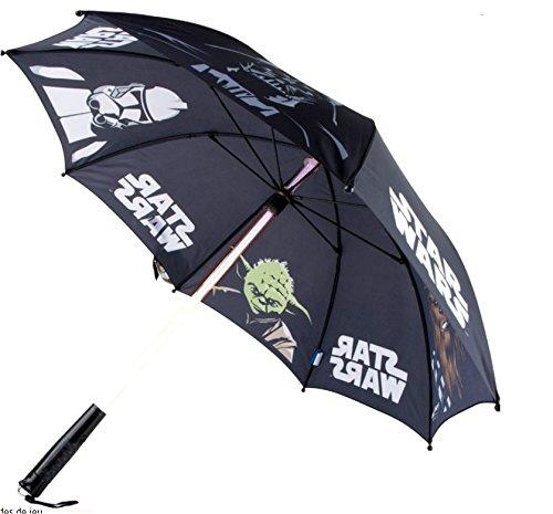 Star Wars Lichtschwert Regenschirm mit Licht, Ø ca. 86 cm - Laser-griff Taschenlampe