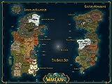 World of Warcraft 32x24 inch / 80x60 cm Plastic Poster Kunststoff Plakat Wasserdicht | Anti-Fade | Kann auf den Außenbereich/Garten/Badezimmer BTJ-61A6/38B0