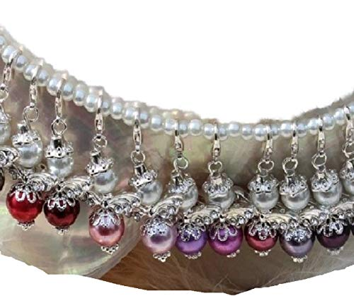 DIY-Bastelsets 20 + 1 Perlenengel in silber mit Zirkonia Flügel Schutzengel Glücksengel als Gastgeschenk für Hochzeit Taufe Kommunion Kindergeburtstag bunter Farbenmix -