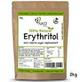 100% Natural Erythritol 2 Kg (4.4 lb) Granulated Zero Calorie Sugar Replacement