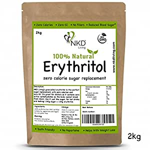 100% Natural Erythritol 2 Kg | Granulated ZERO Calorie Sugar Replacement