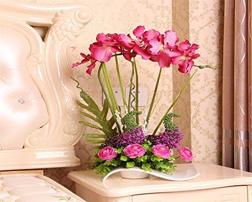 Fiore di emulazione orchid kit home decor e soggiorno camere da letto arredate con gusto, Fiori artificiali