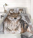 Wolf simple Housse de couette et taie d'oreiller Lit Loup Imprimé animal Motif