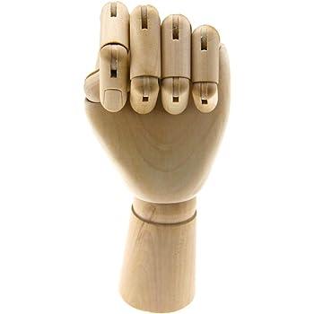 """7/""""//10/"""" Gliederpuppe Hand Modell Malhilfe Holz Gliederhand Modellhand Künstler"""