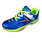 #2: Victall V-101 Super ACE Light Weight Badminton Blue & Parrot Shoe For Men Boys Women Girls Junior PU Material Non Marking Sole Outdoor Indoor Playing - Best in Badminton, Walking Sports Jogging Shoes