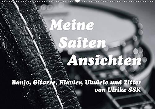 Meine Saiten Ansichten - Banjo, Gitarre, Klavier, Ukulele und Zitter von Ulrike SSK (Wandkalender 2020 DIN A2 quer)