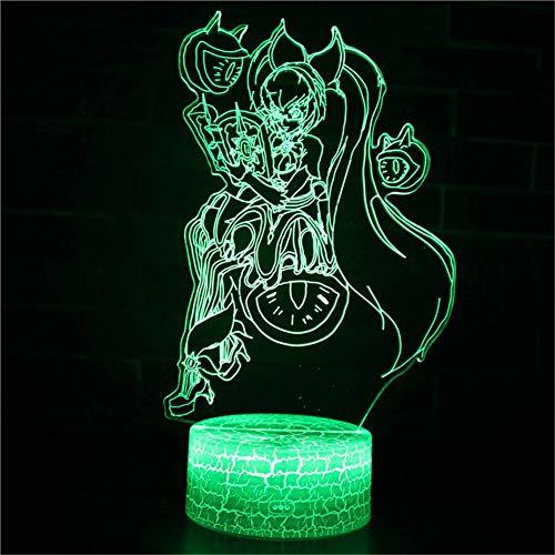 cht Nachttischlampe Für Kinder LED Tischleuchte Dekoratives Licht 7 Farben Andern Touch Switch Acryl USB Crack Basis Auge Monster ()