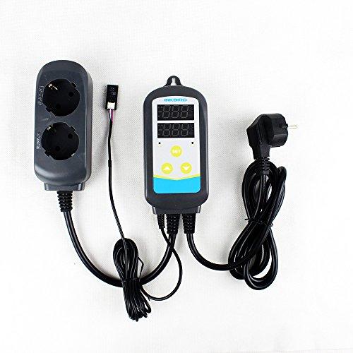 Inkbird 2-IN-1 Hygrostat Steckdose Temperaturregler & Feuchtigkeitsregler Luftbefeuchter Thermostat Temperature Feuchtigkeit Controller mit Sensor