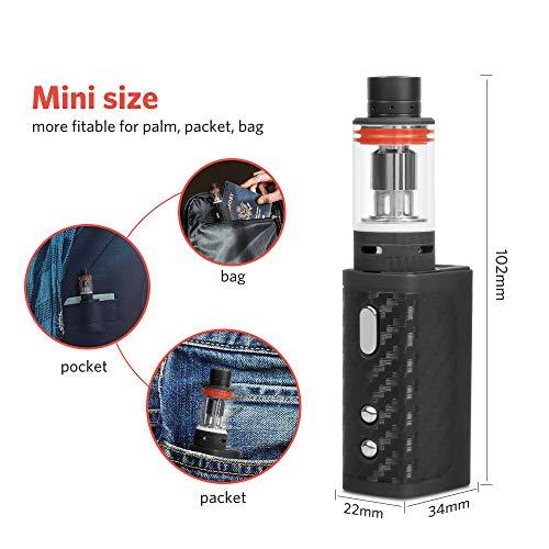 COV MV E Zigarette/E Shisha Starter Set 40W Mod Dampfer Vape Elektrische Zigaretten Kit, ohne Nikotin – Schwarz