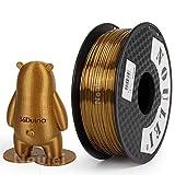 Noulei Filamento de para impresión 3d 1.75mm PLA, Silk Champagne Gold Shiny Printing Filament 1KG 1 Spool