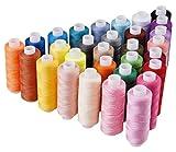 Candora Nähgarn Sortiment Coil 30Color je 250Meter Polyester Gewinde Nähset alle Zweck Polyester Gewinde für Hand und Maschine Nähen