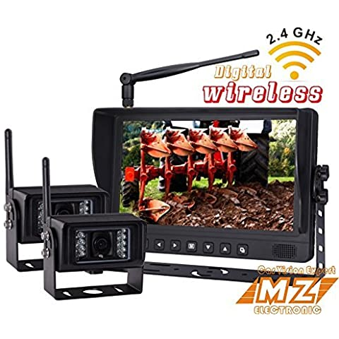 Nessuna Interferenza digitale wireless Rear View Backup Reverse Sistema di videocamera per retromarcia Kit, 9