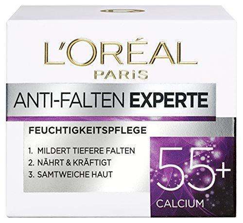 Loreal Anti-falten (L'Oreal Paris Anti-Falten Experte Feuchtigkeitspflege, für 55+, für straffere und samtweiche Haut, 50 ml)
