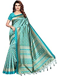ANNI DESIGNER Silk with Blouse Piece Saree (KANGANA-RAMA_ Free Size)