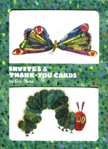 Eric Carle Caterpillar & Butterfly Invite and Thank You Cards (Carle Handwerk Eric)