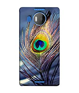 PrintVisa Designer Back Case Cover for Microsoft Lumia 950 XL :: Microsoft Lumia 950 XL Dual SIM (Blue Art Beautiful Decoration Illustration Beauty Eye)