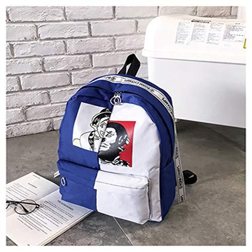 Xxam Rucksack Damen Herren Studenten Backpack Graffiti Drucken Clown Verschleißfest Reisetasche Für Schule Reisen Freizeit Job Mit Laptopfach,02 - Drucken Clown