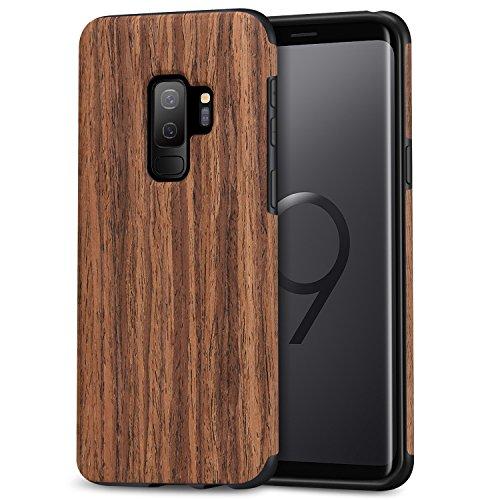 TENDLIN Samsung Galaxy S9 Plus Hülle Holz Flexiblem TPU Silikon Hybrid Weiche Schutzhülle für Samsung Galaxy S9 Plus