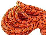 1/2x 150'doppelt geflochten Polyester Baumpfleger Ausrüstung Seil, orange und schwarz von Blue Ox Seil