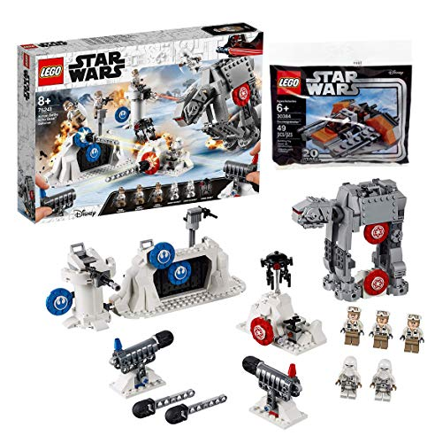 LEGO Star Wars 75241 - Das Imperium schlägt zurück Action Battle Echo Base Verteidigung, Bauset + 30384 Star WarsTM - Polybag Snowspeeder Set - At-at Lego Walker Star Wars