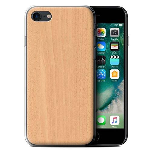 Stuff4 Gel TPU Hülle / Case für Apple iPhone X/10 / Buche Muster / Holz/Holzmaserung Muster Kollektion Buche