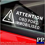 5 Port deaktiviert Wandsticker OBD x 87 mm x 30 mm, Warnschild -Security, Fenster, Van, LKW, Bus, Truck, Taxi Cab, Mini, Minicab.On Board Diagnose Immobilsed Port
