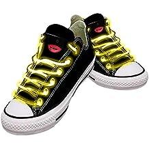 Cordones impermeables para zapatos con LED, color Amarillo, talla Talla única