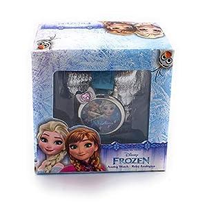 Disney Frozen WD19638 Armbanduhr, Legierung, seitlich, Geschenkbox, Mehrfarbig