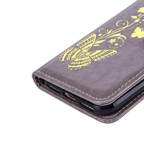 JIALUN-Telefon Fall Mit Kartensteckplatz, Lanyard, Druck Schöne Muster Mode Open Handy Shell Für IPhone7 ( Color : Pink , Size : IPhone 7 ) Gray