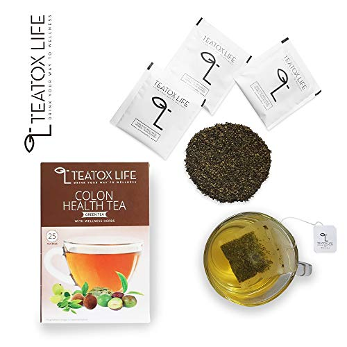 Teatox Life 28 Day Detox Herbal Tea for Weight Loss and Colon Cleanse Bloating Relief - 25 Tea Bags