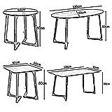 VYN Tables basses Table d'appoint de ménage Salon Table simple Table de téléphone couleur bois, couleur noyer,Table carrée,Bois couleur