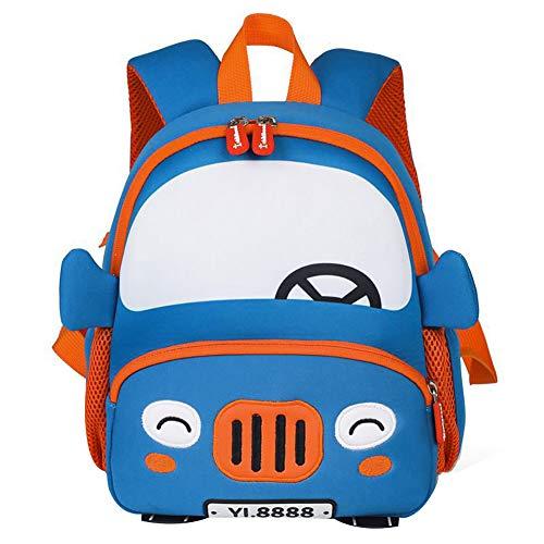 YAGATA Kinderrucksack mit Brustgurt und Leine Cartoon Auto Babyrucksack Kindergarten Anti-verloren Rucksack Schultasche Backpack Tasche für Jungen Mädchen 2-6 Jahre alt (Auto-rucksack)