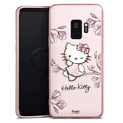 DeinDesign Silikon Hülle Rosé Gold Case Schutzhülle kompatibel mit Samsung Galaxy S9 Hello Kitty Merchandise Fanartikel Magnolia Gold Magnolia