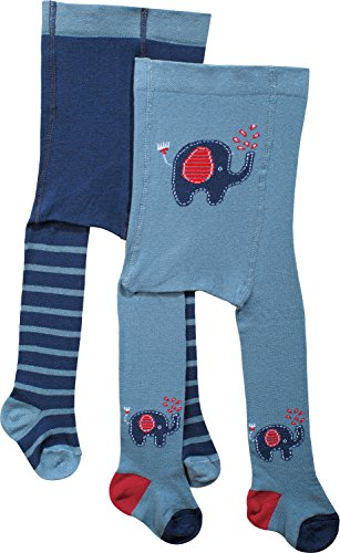 Baby Butt Strumpfhose 2er-Pack rauchblau Größe 62/68