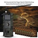 Cámara De Caza,16MP 1080P 2 / 3G SMS gsm Camara De Trail con PIR Sensor Infrarrojo Vision Nocturna Cámara De Exploración De La Fauna